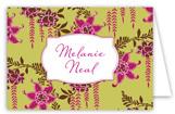 Fuschia Orchids Folded Note Card