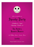 Fuschia Skull 2.0 Invitation