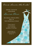 Garden Wedding Turquoise Invitation