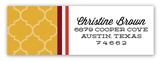 Geometric Fiesta Address Label
