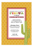 Geometric Fiesta Invitation
