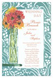 Gerbers in Glass Invitation