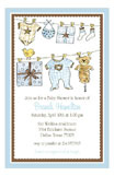 Gift Shower Blue Invitation