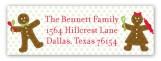 Gingerbread Folks Address Label
