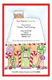 Sweet Treats and Yummy Eats Gingerbread House Invitation