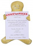 Gingerbread Man Invitation