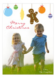 Gingerbread Ornaments Photo Card