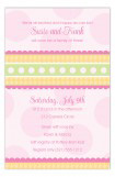 Gingham and Dots Pink Invitation