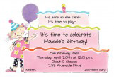 Girl Birthday Cake Die-cut Invitation