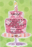 Girl Birthday Cake Invitation