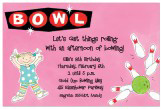 Girl Bowling Invitation
