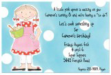 Girl Chef Invitation