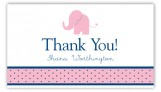 Girl Elephant Icon Calling Card