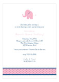 Girl Elephant Icon Invitation