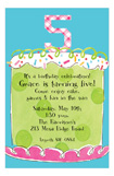 Girl Fifth Birthday Invitation