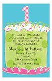 Girl First Birthday Invitation
