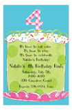 Girl Fourth Birthday Invitation