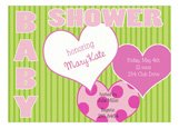 Girl Hearts Baby Sprinkle Invitation