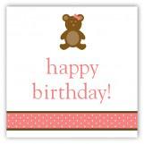 Girl Teddy Bear Icon Gift Tag
