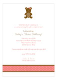 Girl Teddy Bear Icon Invitation