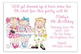 Birthday Girls Tea Party Invitations