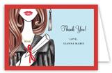 Glamorous Grad - Brunette Note Card