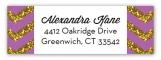 Glitter Chevron Radiant Orchid Address Label