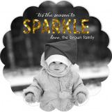 Glitter Christmas Photo Card