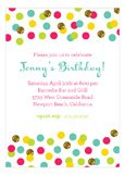 Glitter Color Confetti Invitation