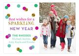Glitter New Year Photo Card