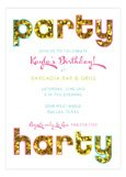 Glitter Party Harty Invitation