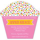 Glitter Sprinkles Cupcake Invitation