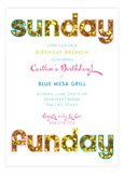 Glitter Sunday Funday Invitation