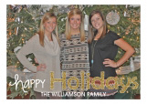 Glittery Happy Holidays Photo Card