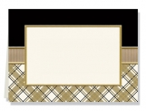 Academy - Gold Foil on Ivory Folded Note Card