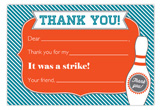 Go Bowling! Flat Note Card