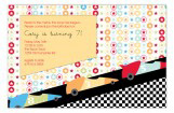 Go Speed Racer Invitation