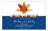 Gobble Gobble Fall Party Invitations
