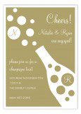 Gold Bubbly Champagne Toast Invitation