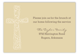 Gold Cross Background Enclosure Card