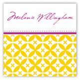 Gold Elegance Square Sticker