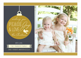 Gold Elegant Ornament Photo Card