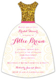 Gold Glamour Invitation