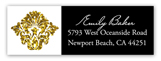 Gold Glitter Damask Address Label
