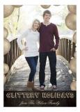 Gold Glittery Holidays Photo Card