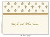Gold Petite Fleur Folded Note Card