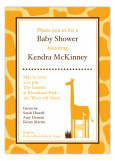 Golden Orange Giraffe Invitation