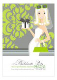 Gorgeous in Green Blonde Invitation