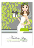 Gorgeous in Green Invitation