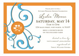 Gourmet Get-Together Tangerine Invitation